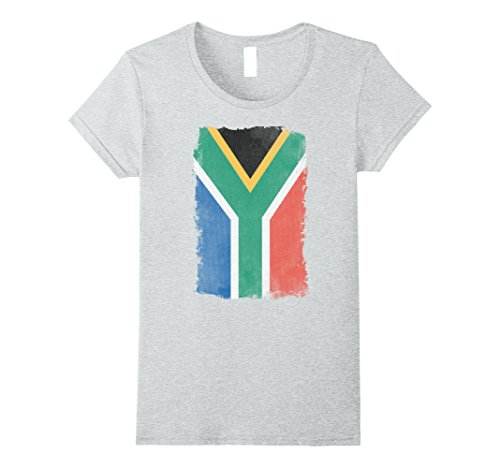 Womens Big Texas Distressed Flag of South Africa T-Shirt ...