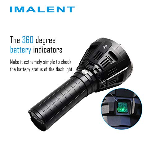 IMALENT MS12 Brightest Flashlight 53000 Lumens, Super Bright Rechargeable Torch Searchlight with 12 Pieces CREE XHP70 LEDs, Built in Cooling Fan, Long Beam Distance 913 Meters by IMALENT (Image #4)
