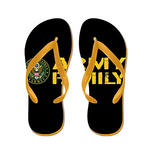 Esercito Di Noi: Esercito Famiglia (nero E Oro) - Infradito, Sandali Infradito Divertenti, Sandali Da Spiaggia Arancione
