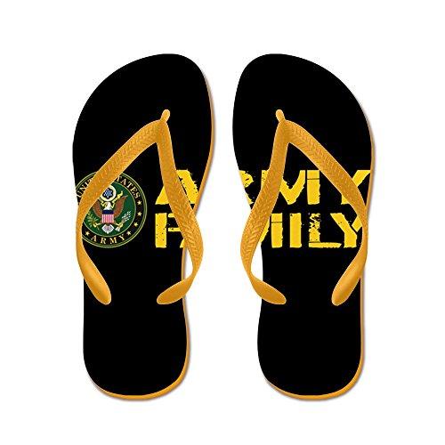 Cafepress Us Army: Army Family (black & Gold) - Slippers, Grappige Leren Sandalen, Strand Sandalen Oranje