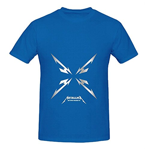 metallica-beyond-magnetic-tracks-mens-round-neck-dtg-shirts-blue
