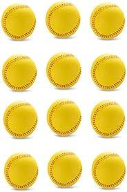 Silfrae Foam Baseball/Softball (Standard Or Oversized) Foam Training Ball for Kids Teenager Players, Reduced I