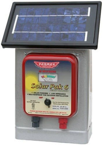 Parmak DF-SP-LI Solar Pak 6 Low Impedance 6-Volt Battery-Operated 25-Mile-Range Electric Fence Charger