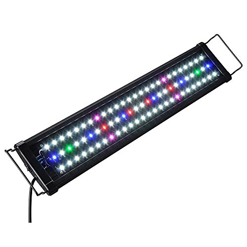 GC Global Direct LED Aquarium Fish Tank Light with Day/Night mode and Extendable Brackets (78 LEDs, 24inch-30inch) (Light Fish For 24 Tank Bar Inch)