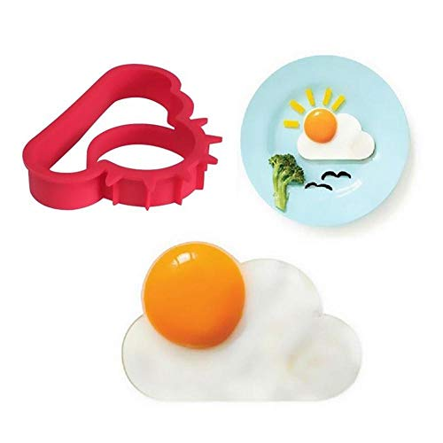 ( Silicone Omelette Clearance , Breakfast Fried Egg Mold Silicone Pancake Shaper Funny Cooking Tool )