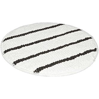 Rubbermaid Commercial FGQ25900WH00 Microfiber Carpet Bonnet, 20  Length, White (Case of 5)