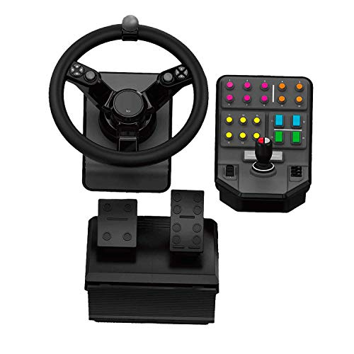 Logitech G Saitek - Farm Sim Controller - Heavy Equipment Bundle (945-000026) (Renewed) (Best Controller For Euro Truck Simulator 2)