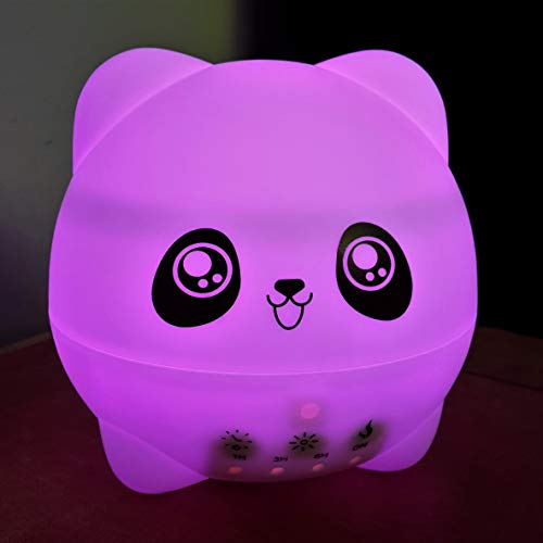 Ultrasonic Aromatherapy Diffuser for Essential Oils-Cute Panda for Kids-Cool Mist Humidifier-Night Light-Whisper Quiet-300ml-Adjustable Mist Mode, Low Water Level Auto Off-Home-Bedroom-Perfect Gift