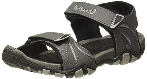 Walkaroo Men's Black Outdoor Sandals (10522)
