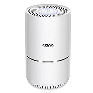 CISNO Air Purifier With True HEPA Filter, Powerful 3-Stage Filtration, Captures 99.99% Air Dust, Pollen, Smoke, Mold, Household Odor, Allergies, Pets Dander, PM2.5, Quiet For Home, Child Safety Lock