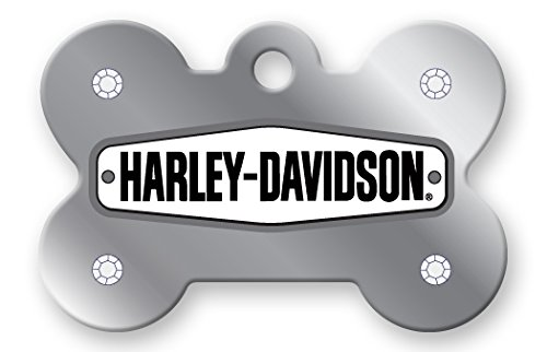 Quick-Tag Harley Davidson Chrome Stones Diva Pet I.D. Tag - Large ()