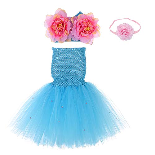 Bubble Guppies Baby Costume (Girls Mermaid Dress Costume Halloween Role Play Outfits Size)