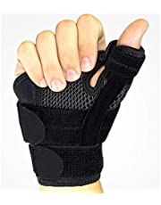 Thumb Spica Splint Wrist Stabilizer Support Brace For thumb Pain, Tendonitis, Arthritis & Sprains One Size Fits Most Fits Both Hands Unisex Black 1 Piece
