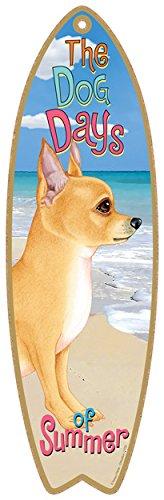 Dog Surfboard - SJT ENTERPRISES, INC. Chihuahua (Tan) Dog Surfboard Plaque Sign - Measures 5