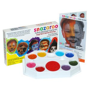 (SPARKLE PALLET Snazaroo Face Painting Pallet Water-Based, Easy-On & Easy-Off and Non-Toxic)