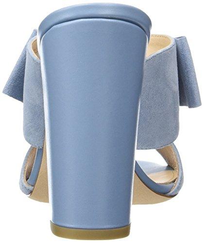 HUGO Bow Mule 10197235 01, Sandalias con Cuña Para Mujer Azul (Light/pastel Blue 452)