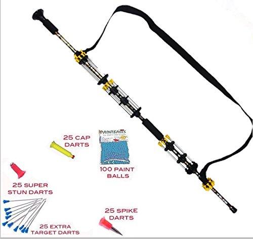 Avenger Warrior Blowgun- Combat Package- Over 160 Darts Plus Paintballs … (Urban camo) - 40 Cal Blow Gun