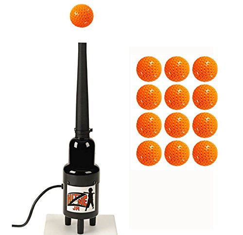 Hit Zone Jr Baseball - Softball - T Ball Air Powered Batting Tee - Ball Floats In Mid Air - Comes With A Dozen Balls & Bonus 14.5'' Sleeve For Practicing At 2 Heights! MADE IN THE USA! by Hit Zone