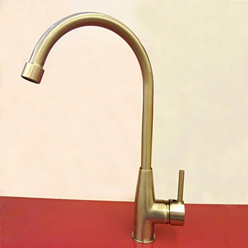 Full Copper Kitchen Sink Faucet Mixed Hot And Cold Nickel Drawing Kitchen Faucet