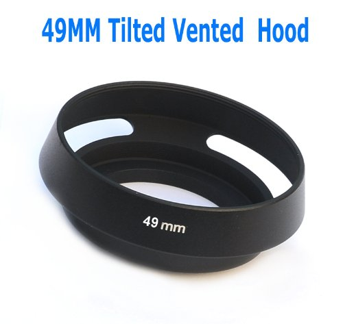 - EzFoto 49mm Tilted Vented Metal Lens Hood Shade for Leica, Contax Zeiss, Voigtlander Lens