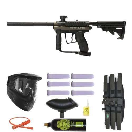 Spyder MR100 Pro Paintball Gun Marker Mega Set - Olive