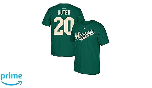 Amazon.com  Reebok Minnesota Wild Ryan Suter  20 Name   Number Green T-Shirt   Clothing d0d59d19f