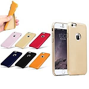 HJZ Exclusive Design Good Quality Leather Thick Shockproof Soft Case Back Cover for iPhone 6 (Assorted Color) , Blue