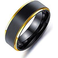 メンズ タングステン リング ブラック フチ レインボーカラー ゴールド チタン ジュエリー 幅広 シンプル カジュアル