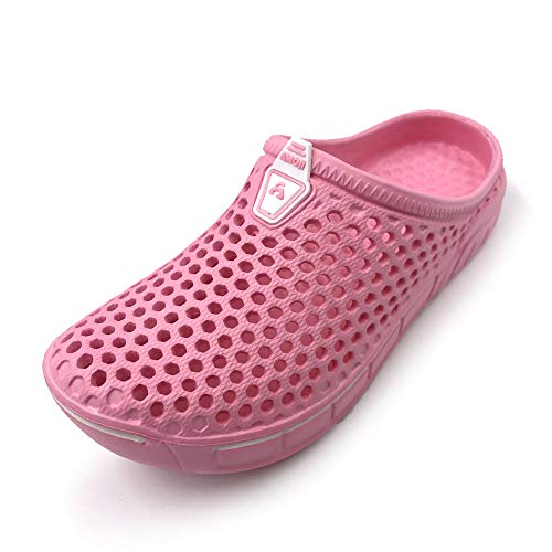 Amoji Garden Clogs Shoes Sandals Summer Slippers Crocks Kids Child Children Baby Boys Girls (Toddler/Little Kid/Big Kid) Pink 10.5-11 Toddler (Best Shoes For Children's Feet)