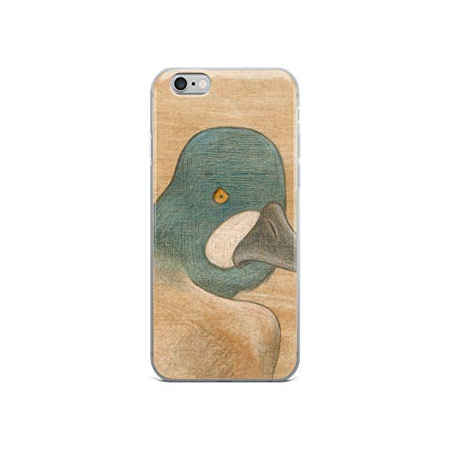 (iPhone 6/6s Case Anti-Scratch Creature Animal Transparent Cases Cover Common Goldeneye Animals Fauna Crystal Clear)