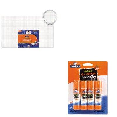 KITEPI905100EPIE542 - Value Kit - Elmer's Guide-Line Paper-Laminated Polystyrene Foam Display Board (EPI905100) and Elmer's Washable All Purpose School Glue Sticks (EPIE542)
