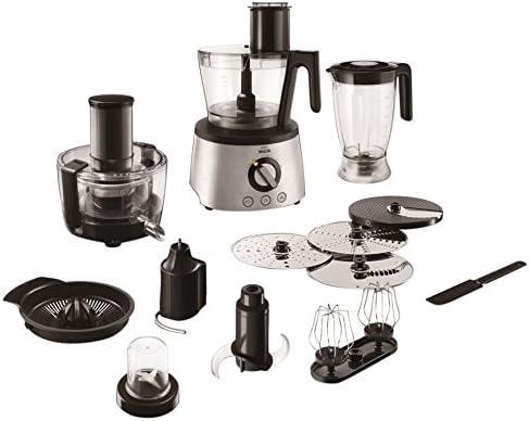 Philips Walita Avance Collection RI7778/00 - Robot de cocina (3,4 L, Negro, Acero inoxidable, 1,5 L, 1,2 m, 1700 L, Lid & bowl detection, mechanical 1.5 sec brake): Amazon.es: Hogar