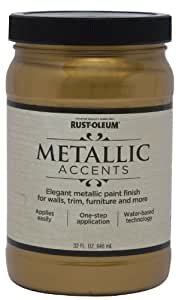 Rust Oleum Metallic Accents On Painted Wall
