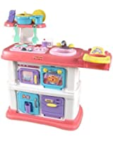 Fisher-Price Grow with Me Cook and Care Pink Kitchen