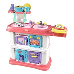 Amazon.com: Fisher-Price Grow with Me Cook and Care Pink Kitchen: Toys & Games