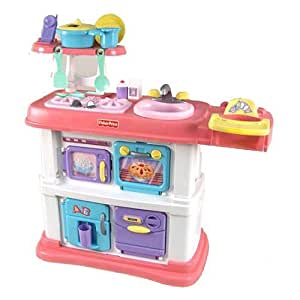 Fisher price grow with me cook and care pink kitchen toys games - Amazon cocina juguete ...