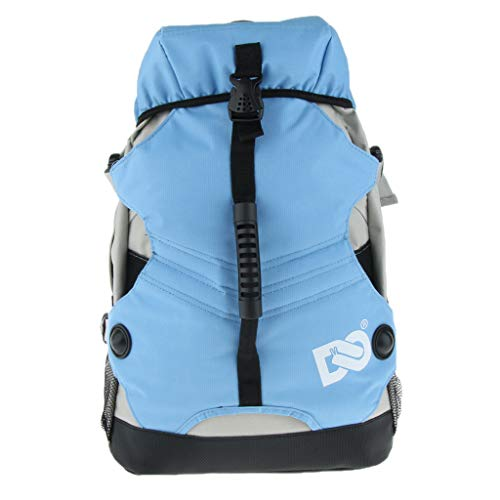 Prettyia Quad Skate, Roller Skating Bag Adjustable Pad Shoulder Strap Sports Backpack - Blue