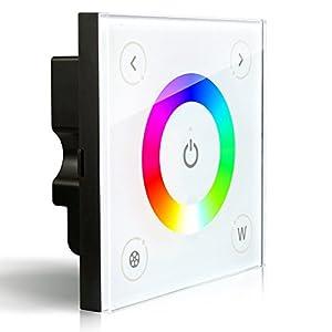 ledenet d4 wall mounted touch panel full color rgbw dimmer controller led strip. Black Bedroom Furniture Sets. Home Design Ideas
