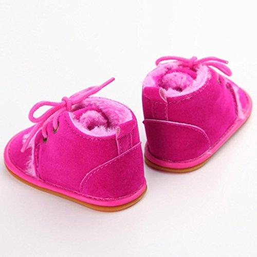 Tefamore Zapatos Bebe Botas de Matin Caliente para Primeros caminantes Rosa caliente