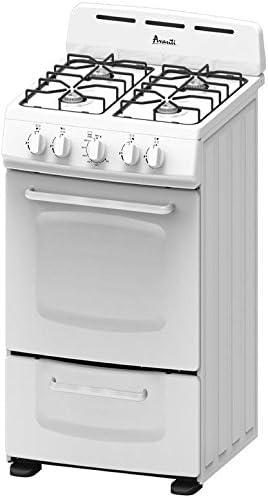 Avanti GR020POW 20'' Freestanding Gas Range Cooktop, White