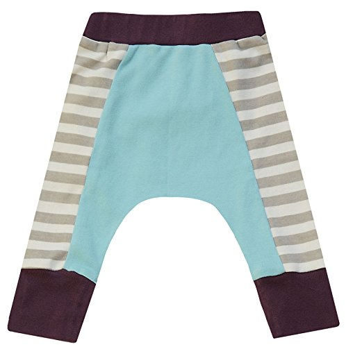 Cat & Dogma Certified Organic Baby Pants - Eggplant/Aqua (12-18 - Outlets Prime Chicago