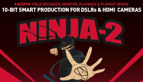 Atomos Ninja-2 camera-mounted recorder, monitor & deck for HDMI cameras and DSLRs