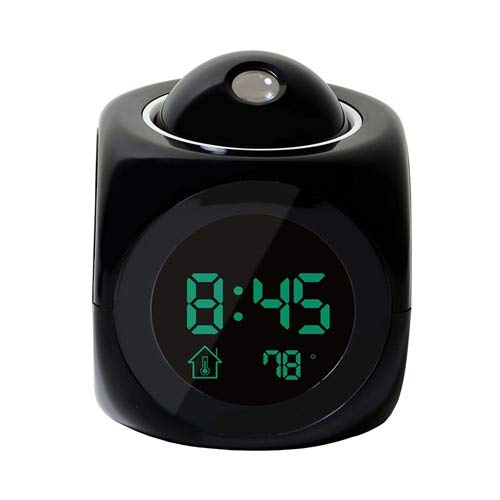 Capcha-Shop - XNCH LCD Projection LED Display Time Digital Alarm Clock Talking Voice Prompt Thermometer Snooze Function Desk