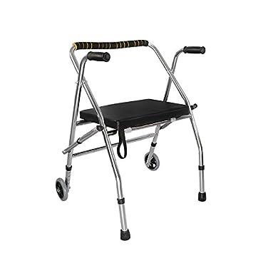 XIHAA Portable Walker Aid Discapacitados Ancianos Ajustable Plegable Antideslizante Almohadilla para Caminar Equipo De Rehabilitación Baño Silla De Baño ...