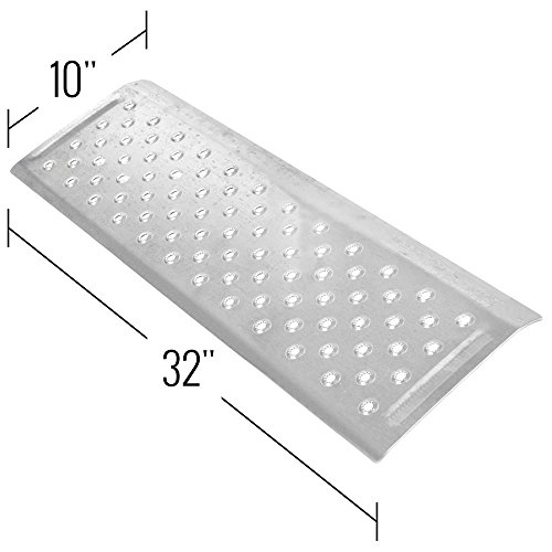 Silver Spring 1-5/8'' High Aluminum Threshold Ramp, Punch Plate Surface, 10'' L x 32'' W by Silver Spring (Image #1)