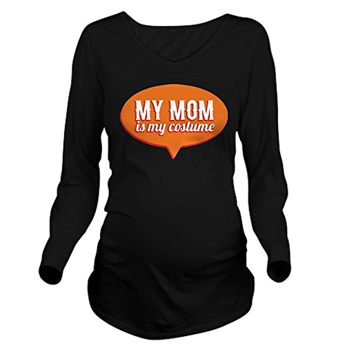 CafePress - My Mom is my Costume Long Sleeve Maternity T-Shirt - Long Sleeve Maternity T-Shirt, Cute and Funny Pregnancy (Pregnant Haloween Costumes)