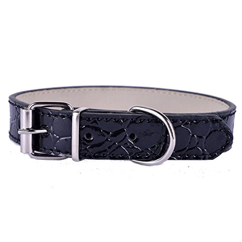 AA Dog Collar Fashion Croc Leather Buckle For Dogs Small Pet Supplies - Fashion Santa Island