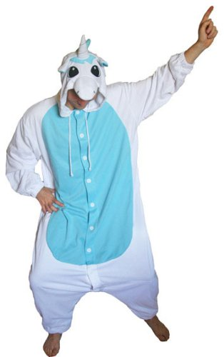 Unicorn Kigurumi Onesie For Adults Blue Small People Up To 162cm Tall Amazoncouk Toys Games