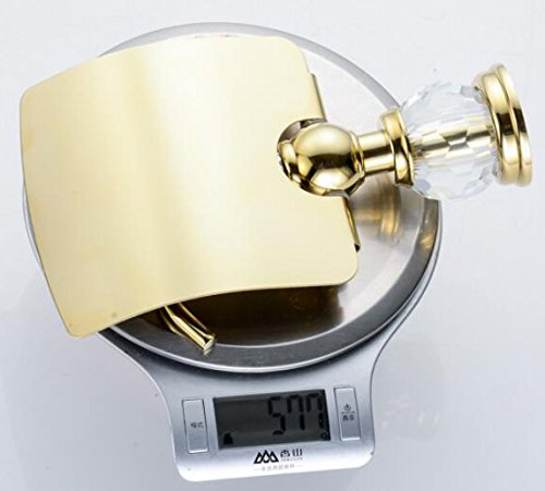 Leyden TM Bathroom Lavatory Luxury Gold Soild Brass Toilet Paper Holder Tissue Roll Holder Tissue Storage Tissue Organizer Wall Mounted, Polished Gold by Leyden (Image #7)
