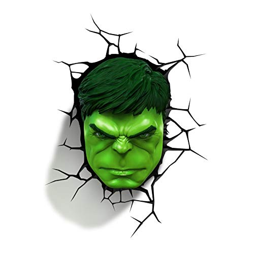 Marvel AVENGERS Incredible HULK FIST & HEAD 3D FX Deco Wall LED Night Light Set ^G#fbhre-h4 8rdsf-tg1324100
